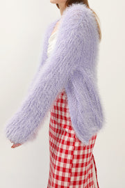 storets.com Kate Furry Knit Cardigan