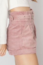 Kathy Blush Corduroy Short Pants