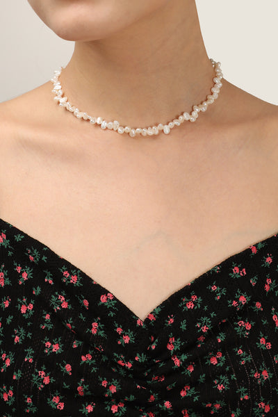 Multi Pearl Embellished Necklace