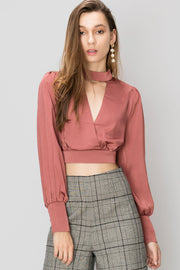 storets.com Bailey Choker Neck Blouse