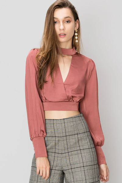 Bailey Choker Neck Blouse