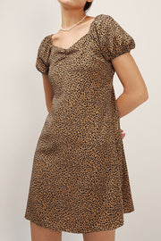 Emma Puff Sleeve Leopard Dress