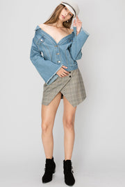 Skye Off Shouder Denim Jacket