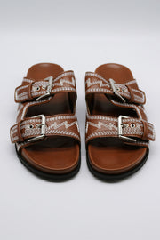 Embroidery Strap Sandals