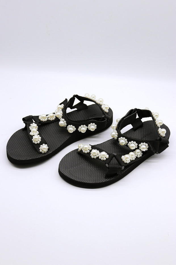 Pearl Embellished Sandals