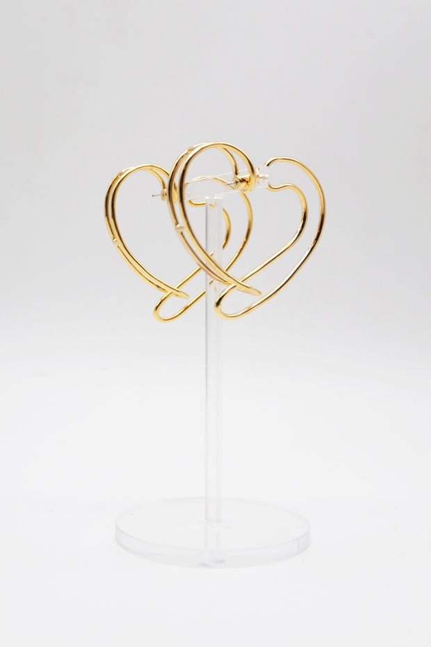 storets.com Heart Hoop Earrings