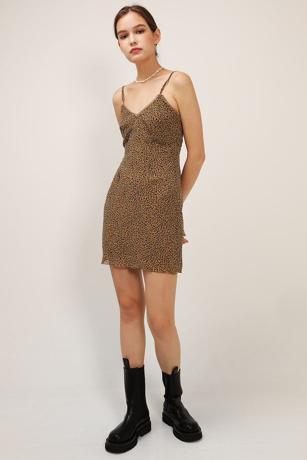 storets.com Roselyn Leopard Cami Dress