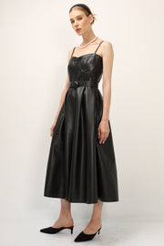 storets.com Mila Pleather Pinafore Dress