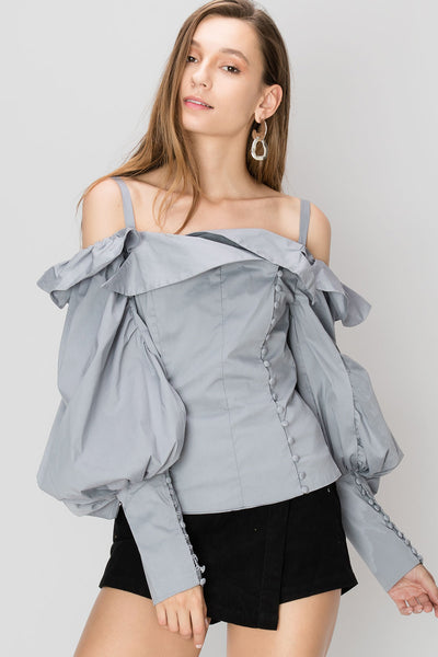 Cindy Puffed And Hooked Blouse