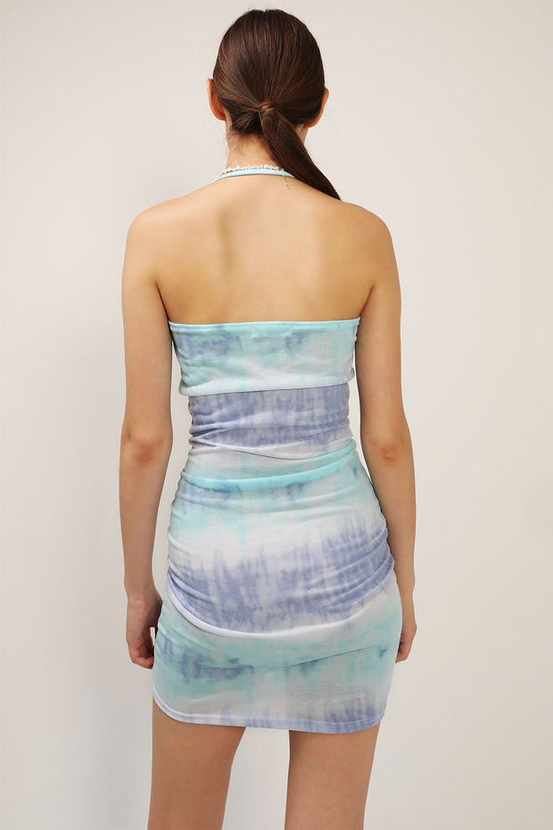Serena Tie Dye Halter Dress