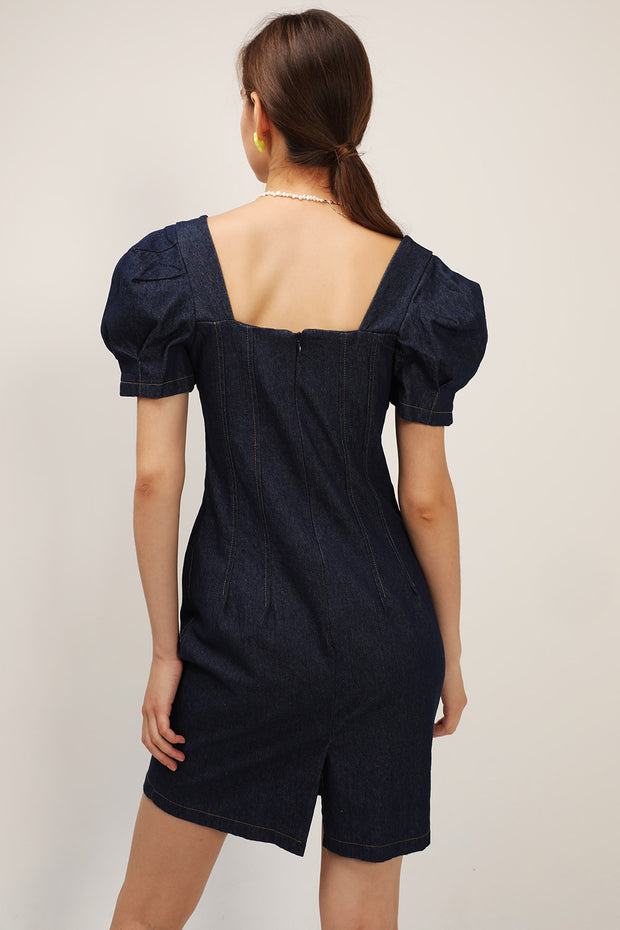 Hannah Denim Bustier Dress