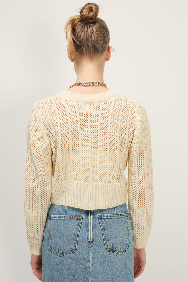 storets.com Riley Ribbed Crop Cardigan
