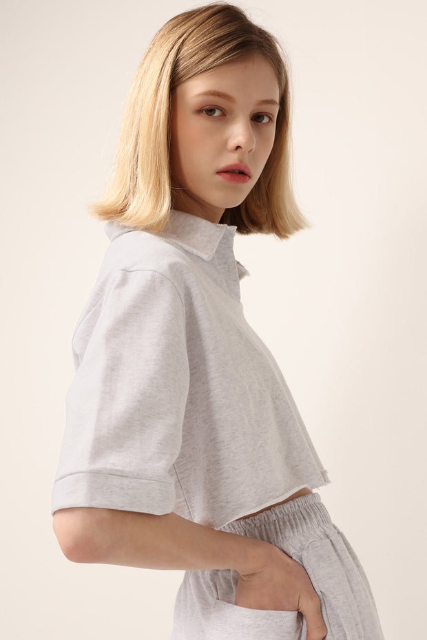 Ruby Cropped Lounge Shirt