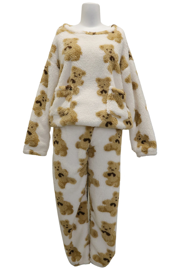 storets.com Riley Teddy Borg Pajama Set