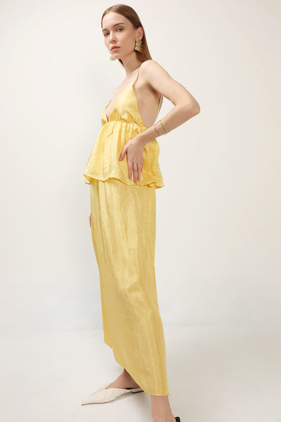 storets.com Serenity Ruffled Maxi Dress