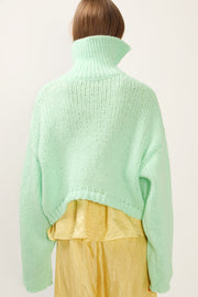 storets.com Leah Asymmetric High Neck Sweater