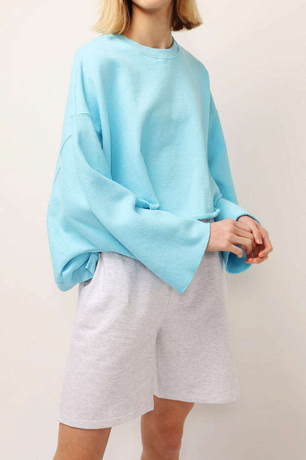 Julia Raw Edge Sweatshirt