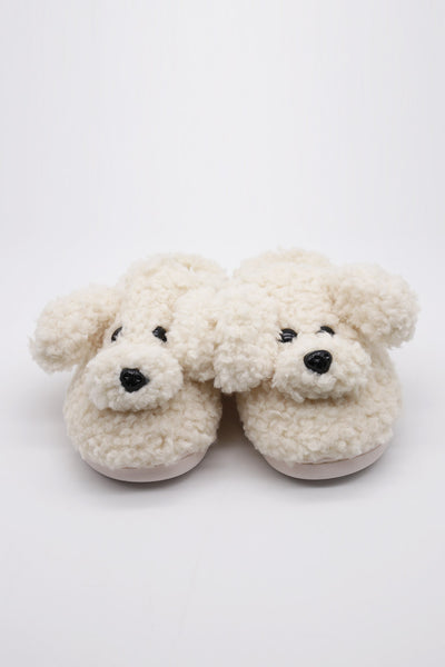 storets.com Fluffy Puppy Slippers
