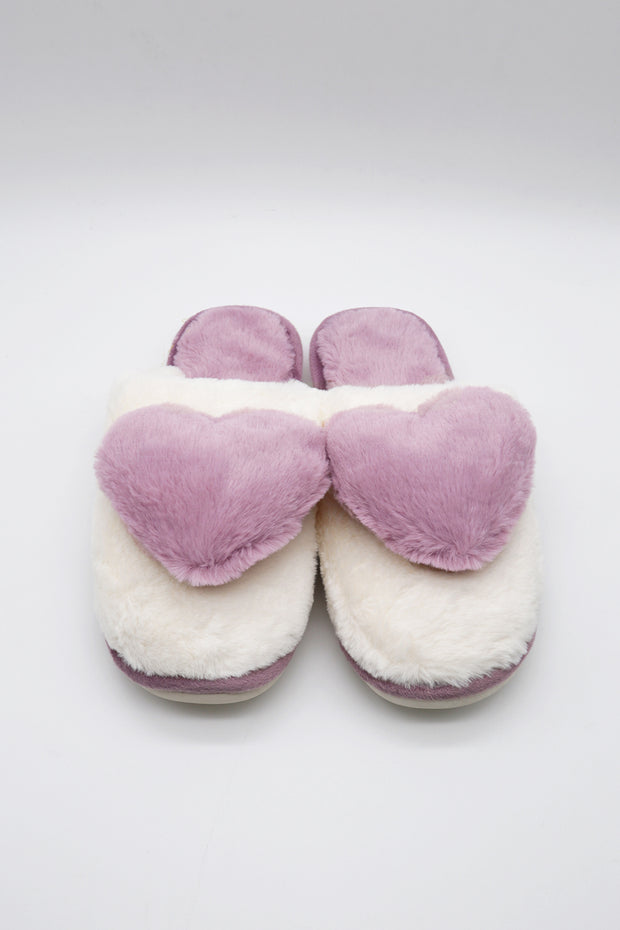 storets.com Fuzzy Big Heart Slippers