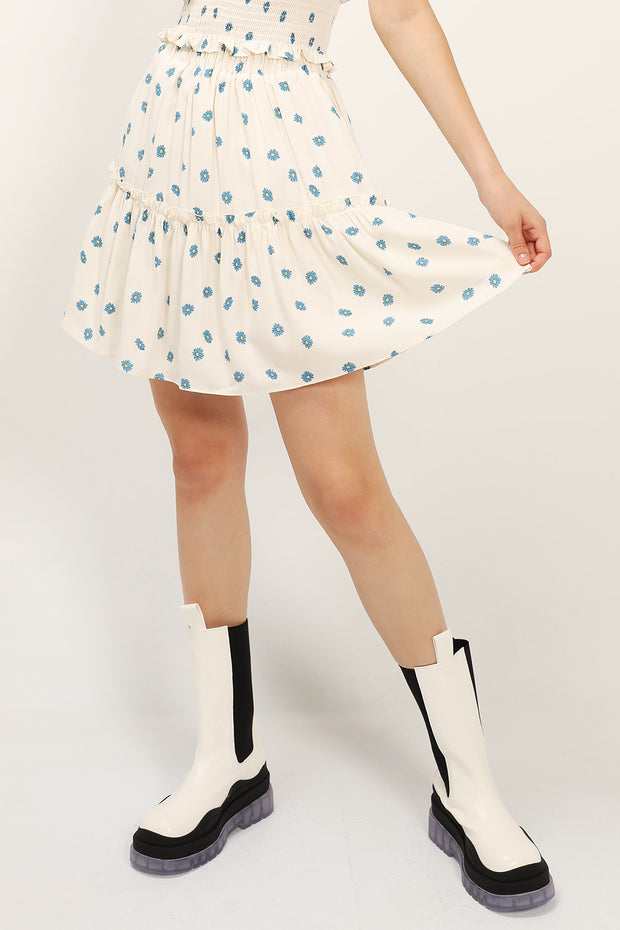 Kelly Daisy Printed Ruffle Skirt
