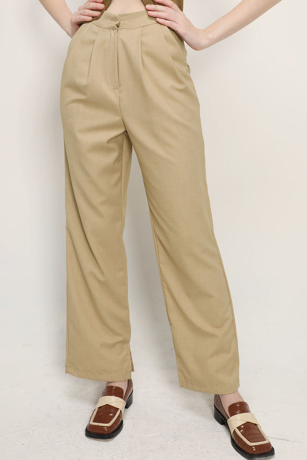 Madison Pintuck Wide Leg Pants