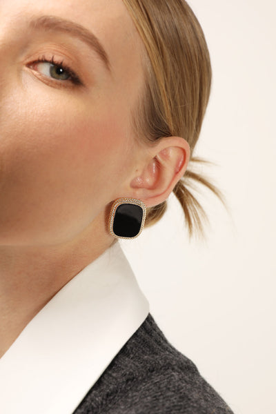 storets.com Statement Jewel Stud Earrings