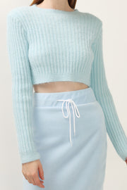 storets.com Sofia Ribbed Crop Sweater