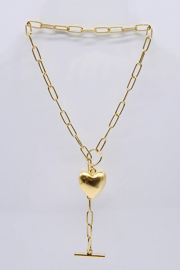 Sweet Heart Toggle Necklace