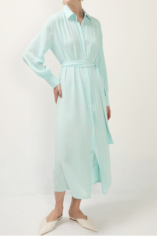 storets.com Olivia Half Pleated Maxi Dress