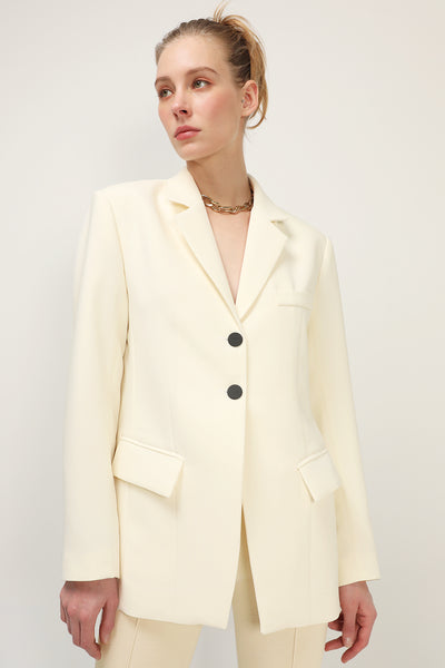 storets.com Cristina Single Breasted Long Blazer