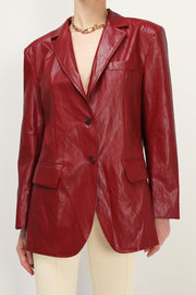 storets.com Jenna Crinkled Pleather Jacket