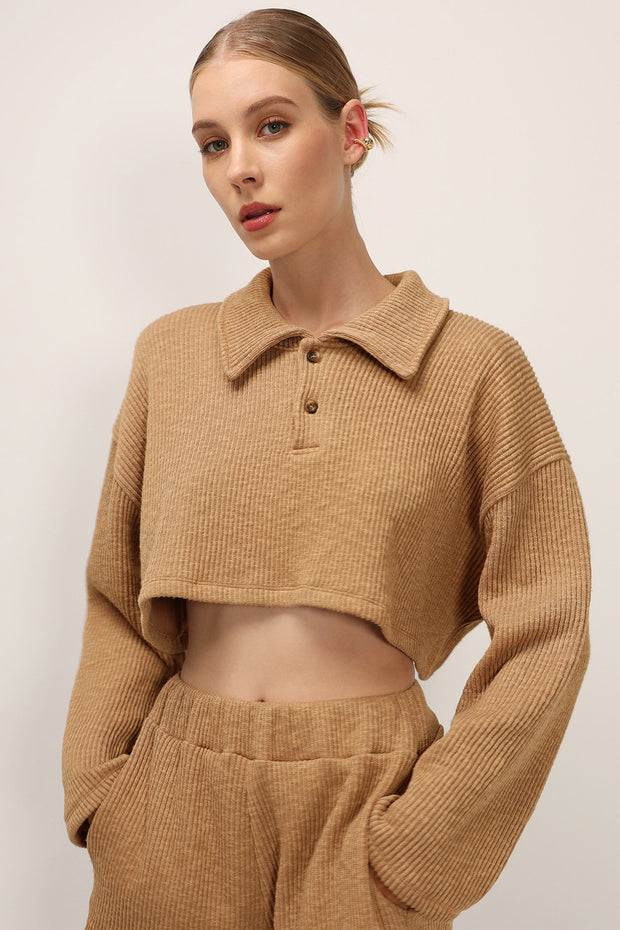 storets.com Alice Ribbed Crop Shirt