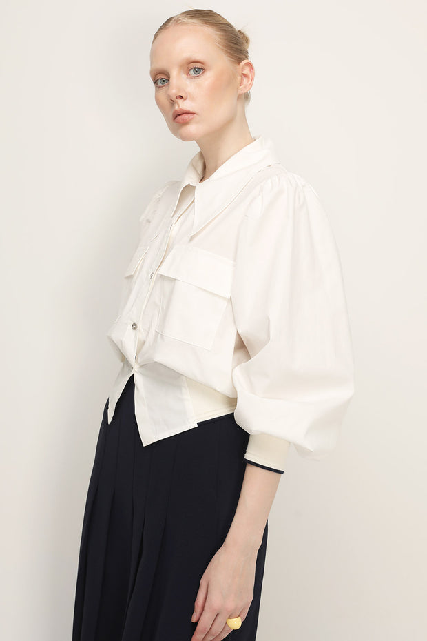 storets.com Madilyn Collar Accent Shirt