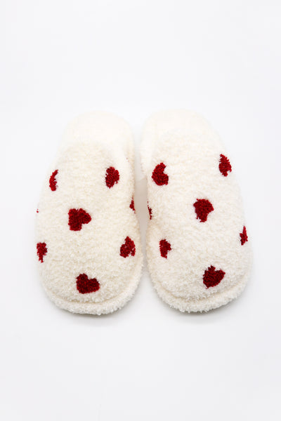 storets.com Fuzzy Fur Heart Slippers
