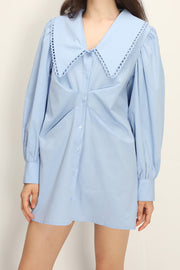 Elina Accent Collar Shirt Dress