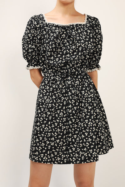 Reina Floral Ruched Front Dress