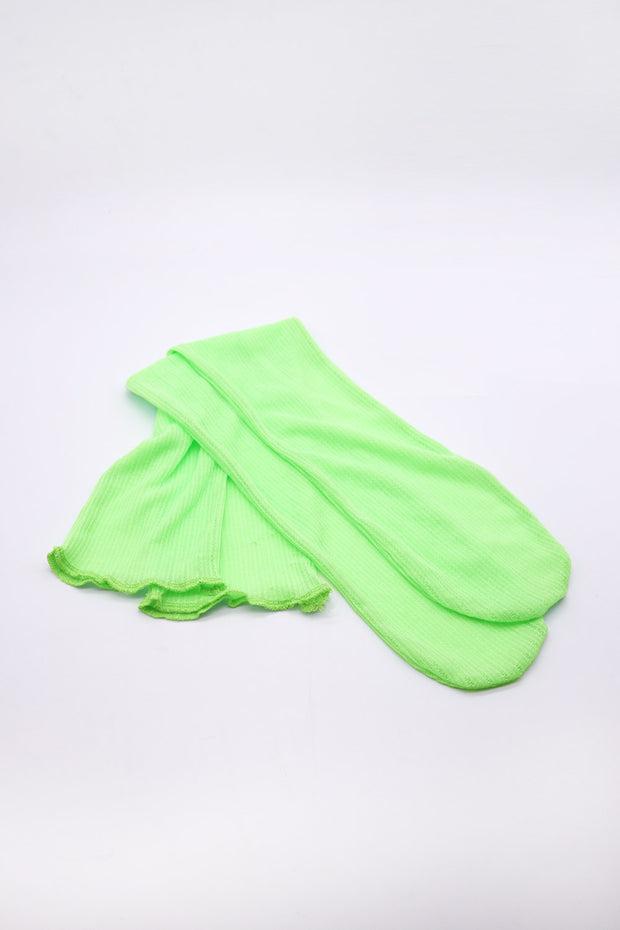 storets.com Ribbed Sheer Knee-Socks
