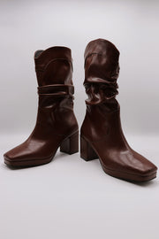 Ruched Western Boots