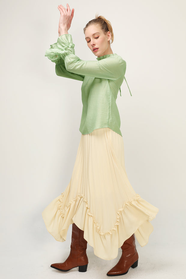 storets.com Dyana Crinkled Bow Blouse