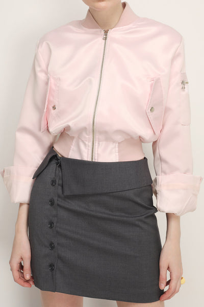 Ada Satin Bomber Jacket