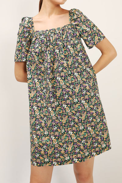 Lily Floral Tie Back Dress
