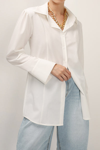 Lucy Padded Pintuck Blouse