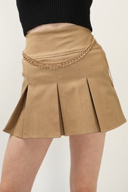 storets.com Zaylee Chain Detail Pleated Skort