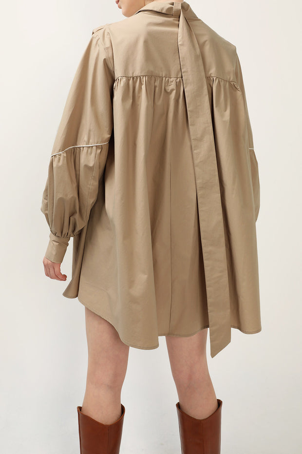 storets.com Tori Piping Detail Shirt Dress