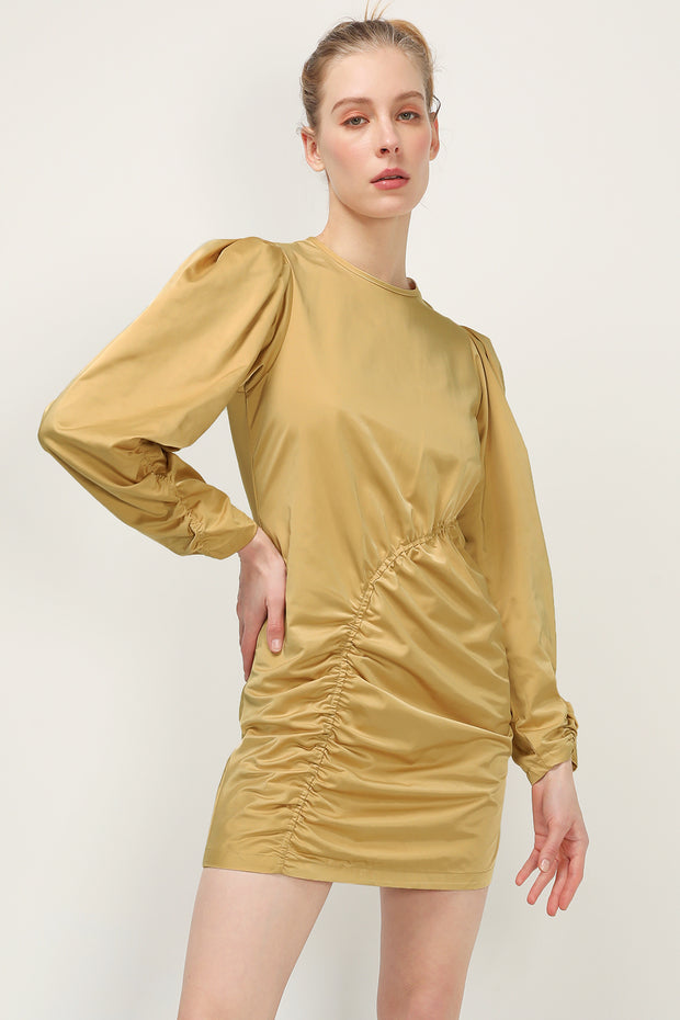 storets.com Trinity Asymmetric Shirred Dress