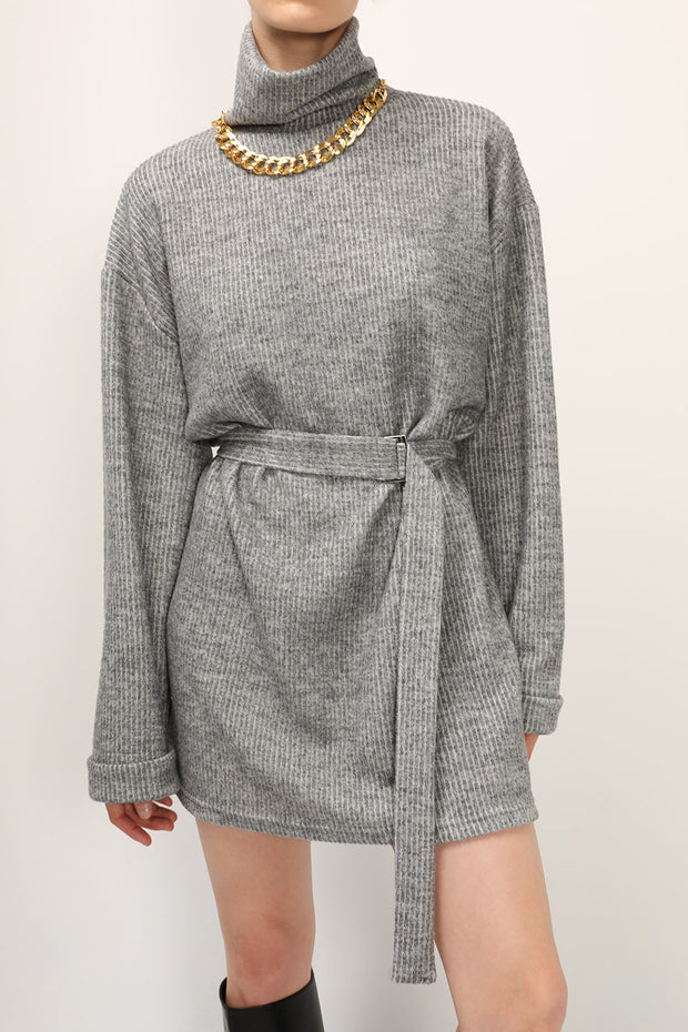storets.com Madison Turtle Neck Belted Dress