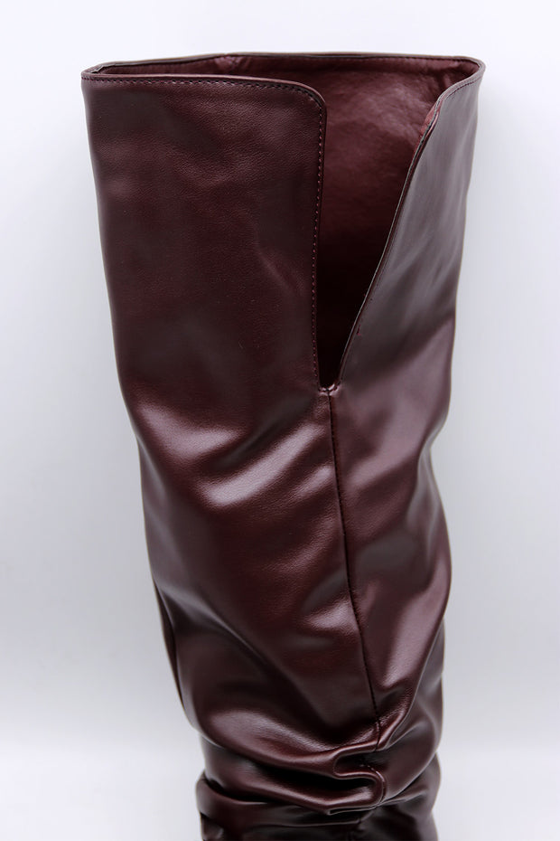storets.com Ruched Thigh High Boots
