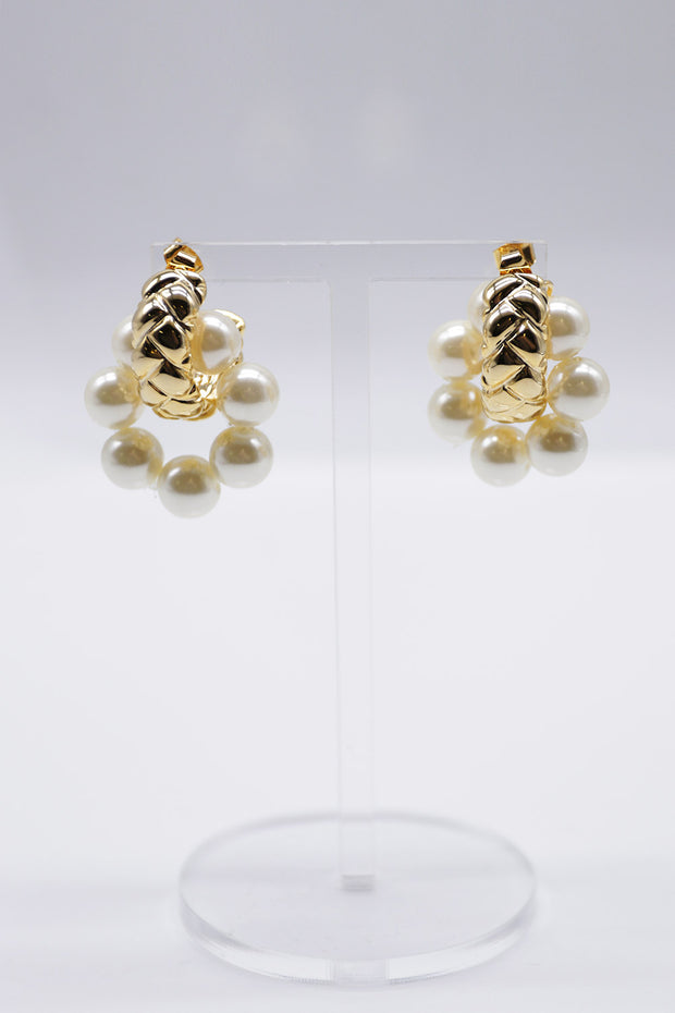storets.com Pearl Round Earrings
