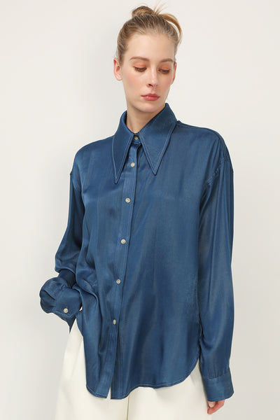storets.com Eliza Collar Accent Shirt
