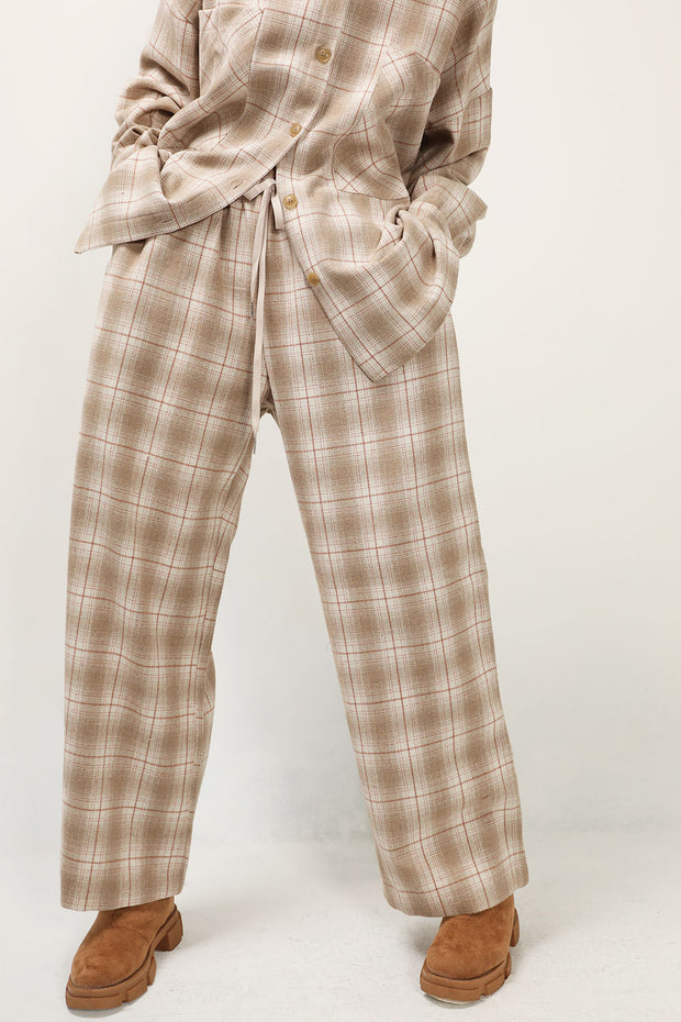 storets.com Piper Plaid Wide Leg Pants